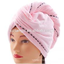 2016 новый дизайнер бамбук быстрая сушка волос сушка полотенце тюрбан 25см*66см