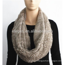 Plain Color Knitted Fish Scale Pattern Snood