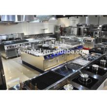 Equipo de cocina de restaurante usado comercial para hospital / hotel (CE)