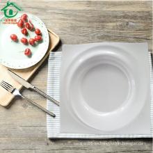 Plato de cena de la porcelana del precio de fábrica placas cuadradas de cerámica