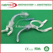 Tubo de traqueostomia de PVC esterilizado descartável