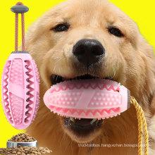 Amazon Explosion Model Small Dog Decompression Elastic Molar Teeth Leaking Oval Ball Toy