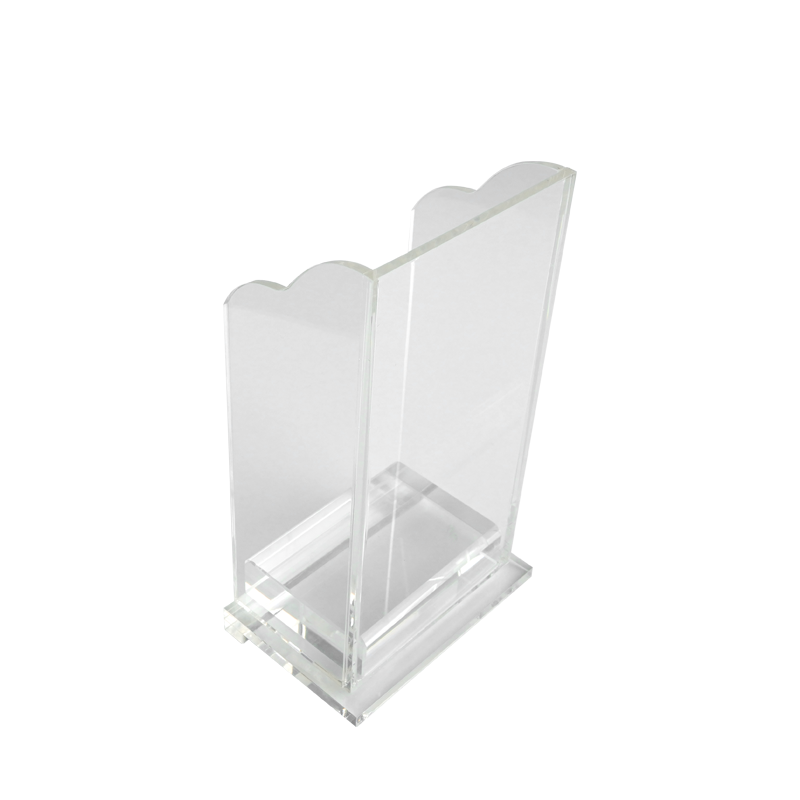 High Quality Acrylic Discard Holder With Paperweight