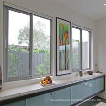 Top selling aluminum window sliding, framed double glazed sliding window