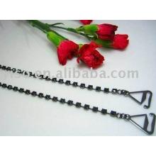 black single row rhinestone bra straps