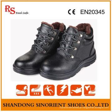 Sapatos de segurança de inverno resistentes a produtos químicos para o mercado da Rússia RS818