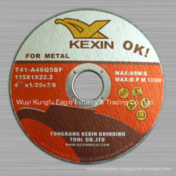 115*1*22.2mm Cutting Disc T41 Cutting Disc for Metal with En12413