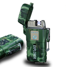 Electric Lighter Windproof Double ARC Plasma Lighter USB Rechargeable Lighter with Battery Indicator