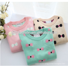 2015 wholesale pullover knit pattern cashmere soft crochet sweater designs for baby girls