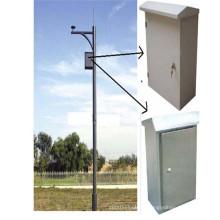 Monitoramento de segurança Pólo montado na câmera CCTV, galhão de aço galvanizado