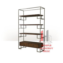 Iron Frame with wood rack