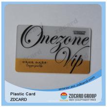 Transparente regalo de impresión transparente PVC Tarjeta de visita