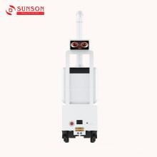 Robô de névoa de desinfecção antivírus de bateria suportável