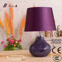 European Hotel Decorative Purple Ceramic Desk Lamp Table Lamp
