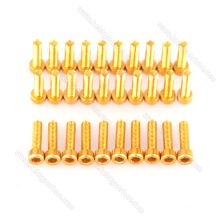 Vis d'assemblage à tête cylindrique à six pans creux en aluminium anodisé