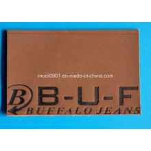 Embossed Leather Logo for Jean High Quality Branded Leather Patch with Embossed Logo