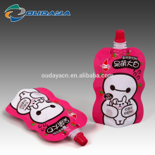 Food & Beverage Package Stand Up Shaped Strawberry Juice Pouch with Spout
