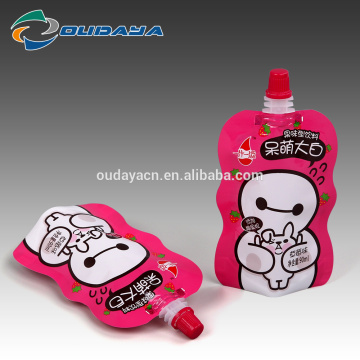 Paquete Stand Up Strawberry Juice Pouch con pico