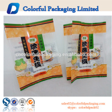 O biscoito do arroz imprimiu o saco personalizado plástico de empacotamento de alimento com janela