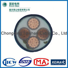 Gute Qualität PVC / XLPE Isolations-Power-Kabel, DC-Netzkabel
