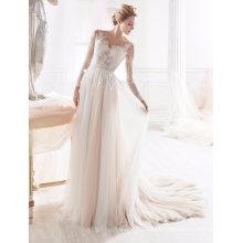Beading A Line Wedding Dress Bridal Gown