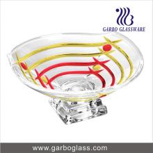 Ensemble de salade en verre imprimé en ligne avec support