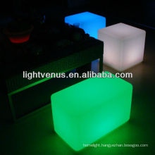 China Manufactuer RGB Color Changing LED Bench Chair