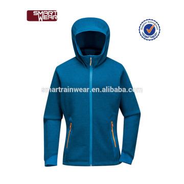 Womens Zipper CoatBlue Farbe Blocked Leichte Fleece Jacke