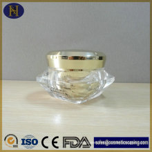 Wholesale Luxury Plastic Cosmetic Diamond Shape 50g Acrylic Cream Jar