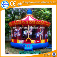 Sale vívido design jumper bouncer inflável carrossel de Natal para crianças