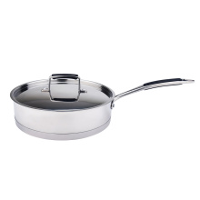 Straight body elegant stainless steel cookware set