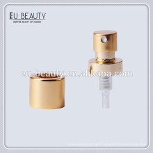Golden aluminum 15mm 0.09cc perfume spray pump