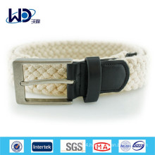 2014 Durable white cotton braided belts