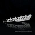 Großhandel Silber Hochzeit Kristall Krone Braut Frauen Ballett Tiara Ballett Braut luxuriöse Kopfbedeckungen