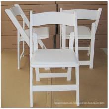 Heißer Verkauf weißer Wimbledon-Stuhl / hölzerner faltender Hochzeits-Stuhl
