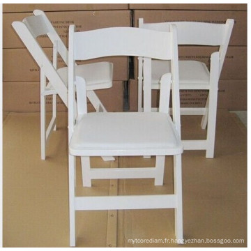 Chaise Wimbledon blanc de vente chaude / chaise de mariage pliante en bois