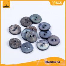Bouton naturel MOP Black Shell pour chemise BN80070