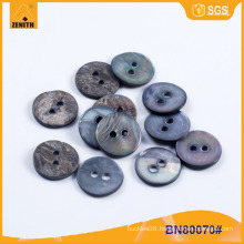 Natural MOP Black Shell Button for Shirt BN80070