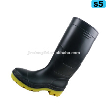 pvc rain boots for men black cheap safety shoes