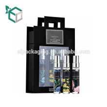 Schwarze Mode-Hautpflege-kosmetische Papppapppapier-Kasten