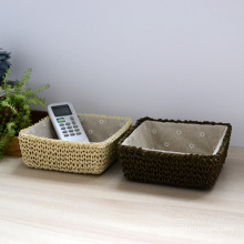 (BC-RB1007) Mini Weave Paper Rope Basket