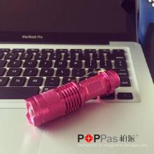 Poppas X1UV Design Clássico para Promoção Presente Telscopic Mini recarregável 365nm Nichia UV LED Lanterna