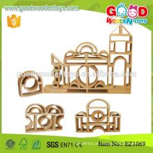 58 picecs Kids Enlighten Big Wooden Hollow Blocks