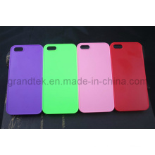 Жесткий PC Мобильный телефон случай для iPhone5/5s прорезиненные случай