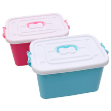 Fashionable Plastic Storage Box Container with Handle (SLSN018)