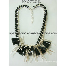 Fabric Exaggerated Metal Necklace for Fashionista