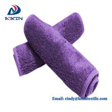 China factory custom teal color and pink 100% micrfoiber make up cloth
