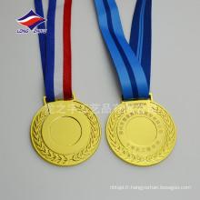 Médailles de médailles d'or en blanc personnalisées