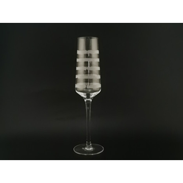 Прозрачное стекло для фужеров для шампанского с травлением