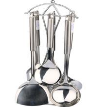 Набор посуды из нержавеющей стали с держателем